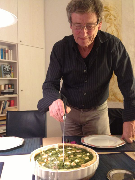 "A Christmas Eve dinner in Colonge, Germany – ""My friend Georg's Dad cutting up the Christmas Pie"""