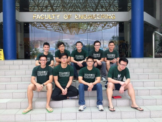 Tembusu's Mechanical Engineers at the Faculty of Engineering. Only 4 of us were born and raised in Singapore