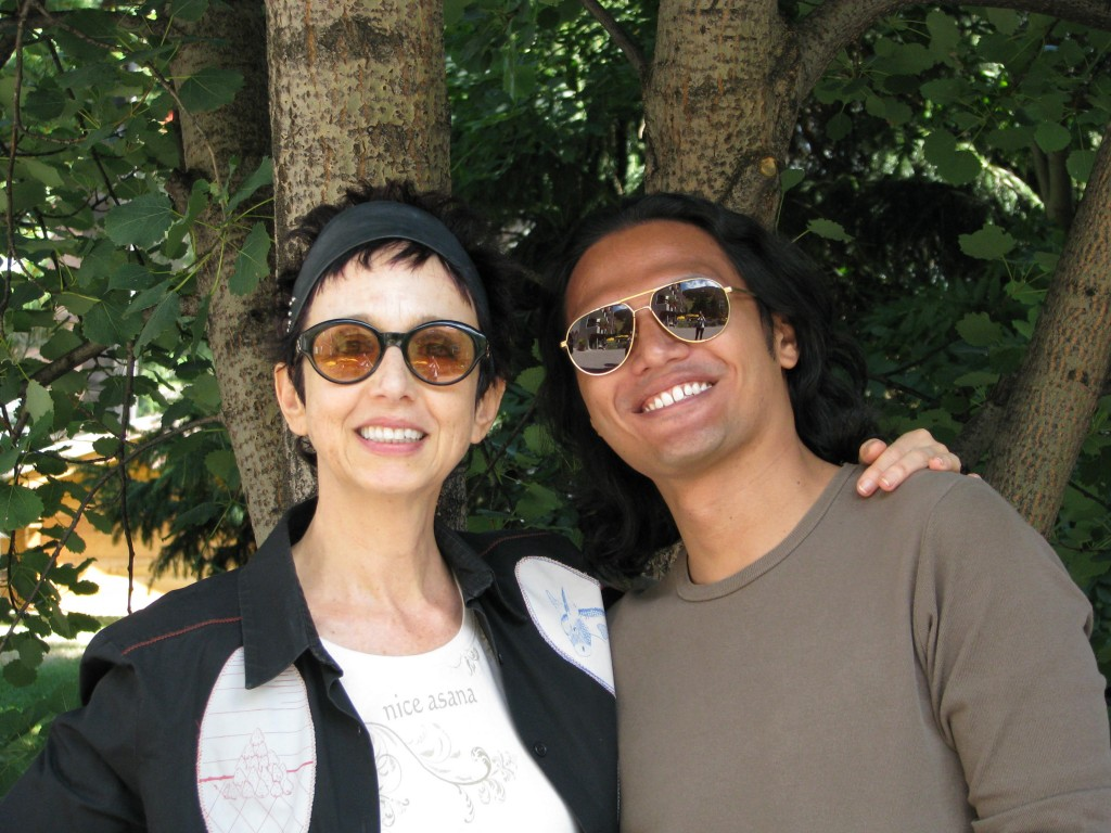 with Avital Ronell at the European Graduate School (August 2009)