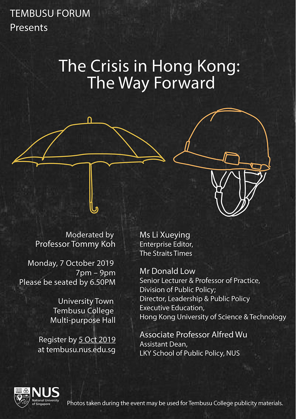 Tembusu Forum Presents: The Crisis in Hong Kong: The Way Forward