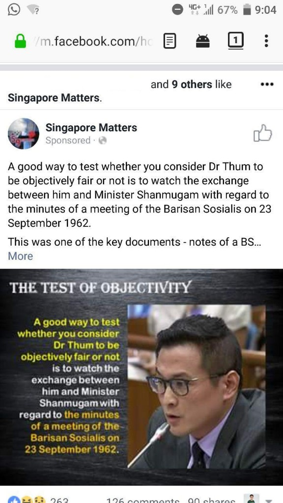 (Names Removed) Singapore Matters